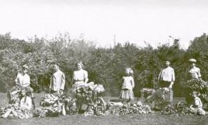 1920s 4-H garden harvest