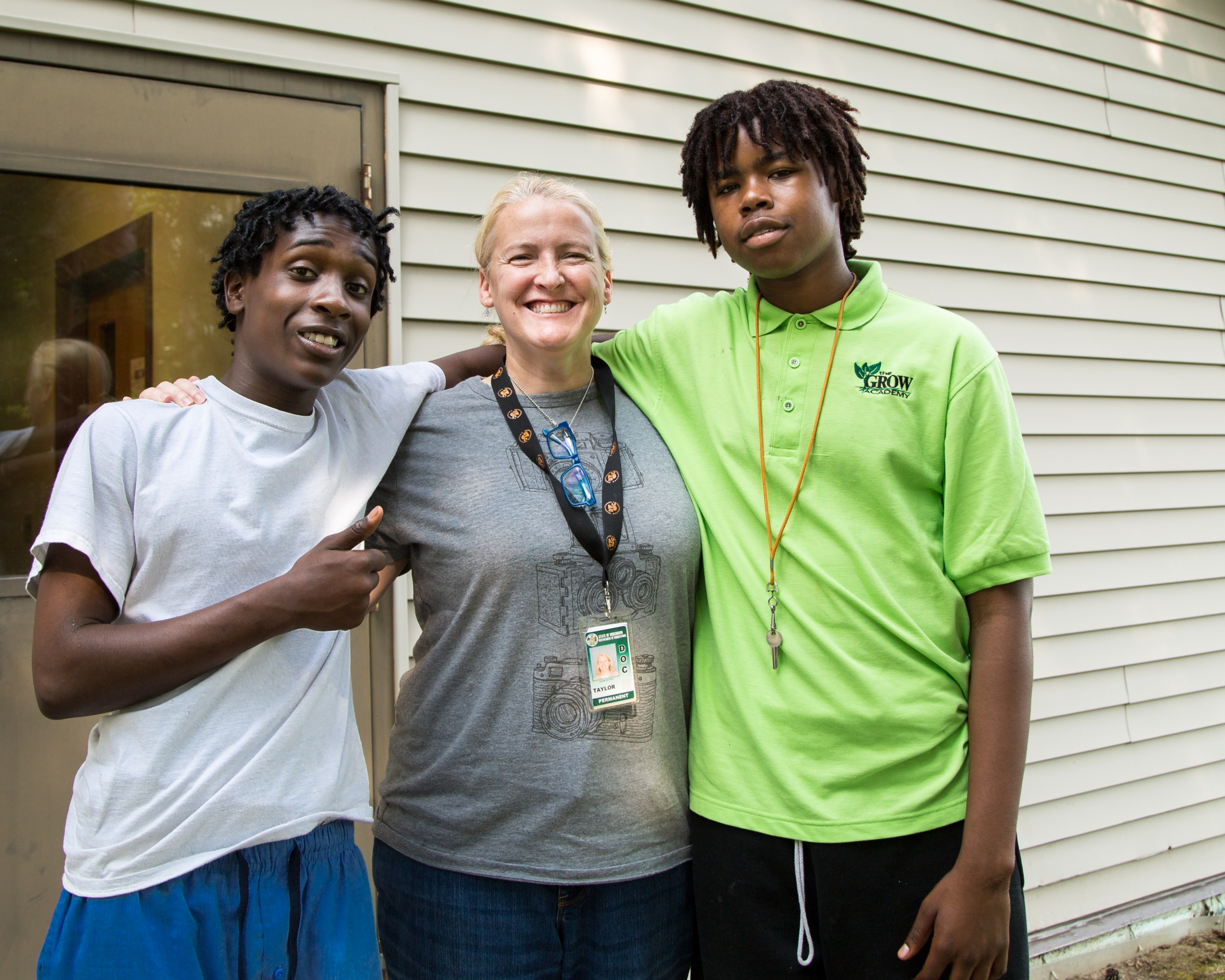 Grow Academy youth with instructor
