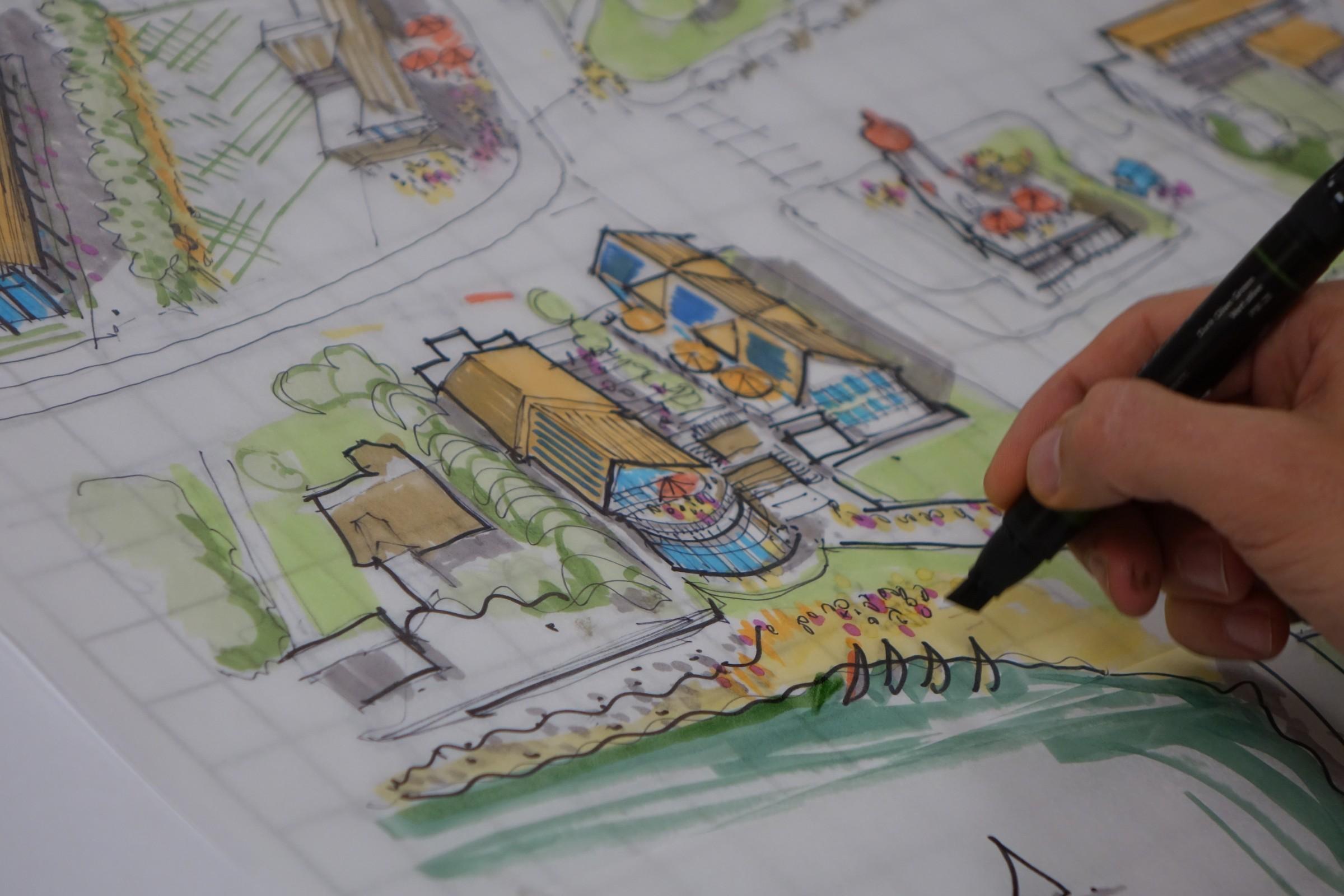 9 community placemaking community design charrette - Charrette dessin ...