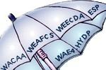 Umbrella with organizations worded JCEP
