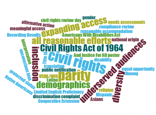 word cloud civil rights terms