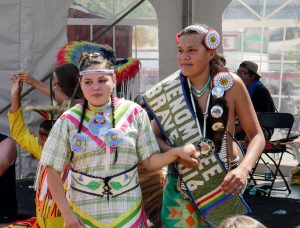 Native American couple at State Fair