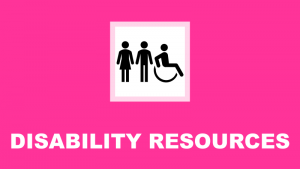 disability resources header and link to disability accommodations website