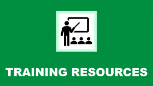 training resources header and link to training resources page