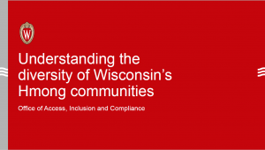 Image and link to Understanding the diversity of Wisconsin's Hmong communities presentation