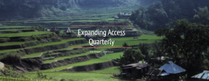 banner image from Peace Corps issue of Expanding Access Quarterly