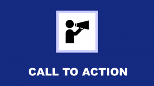 Call to action icon showing figure with megaphone