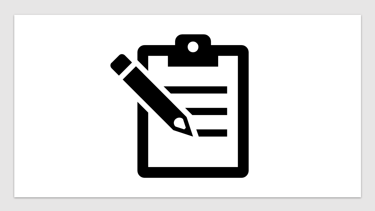 Clipboard with pencil for interpreter evaluation form