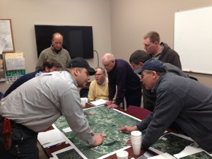 A strategy session for Horse Creek Watershed Council farmer-leaders.