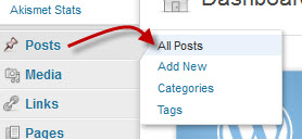 Select All Posts from the Posts menu