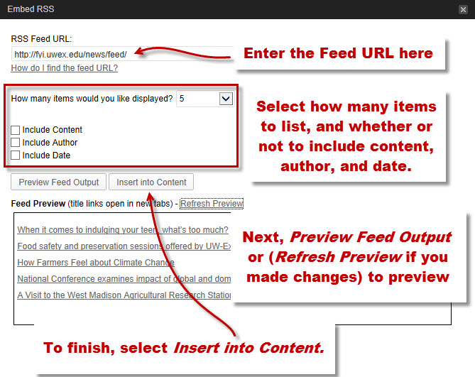 Embed an RSS Feed in a Page – WordPress Help