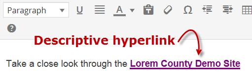 Descriptive Hyperlink