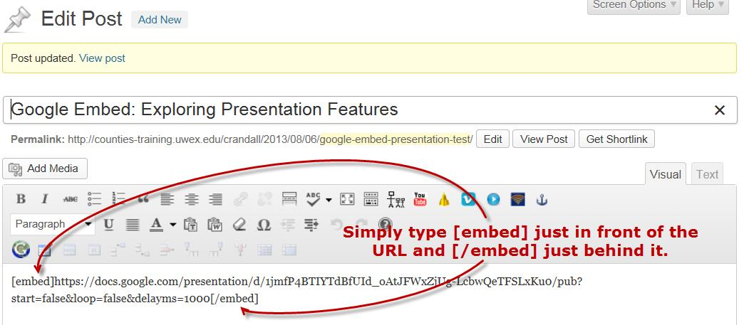 Embed a Google Doc from Google Drive – WordPress Help