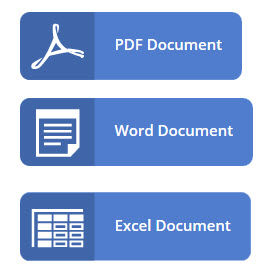 PDF, DOC and Excel Icons