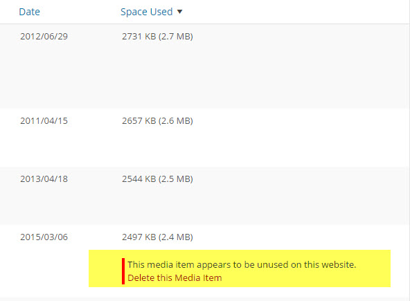 Delete Unused Media Files – WordPress Help